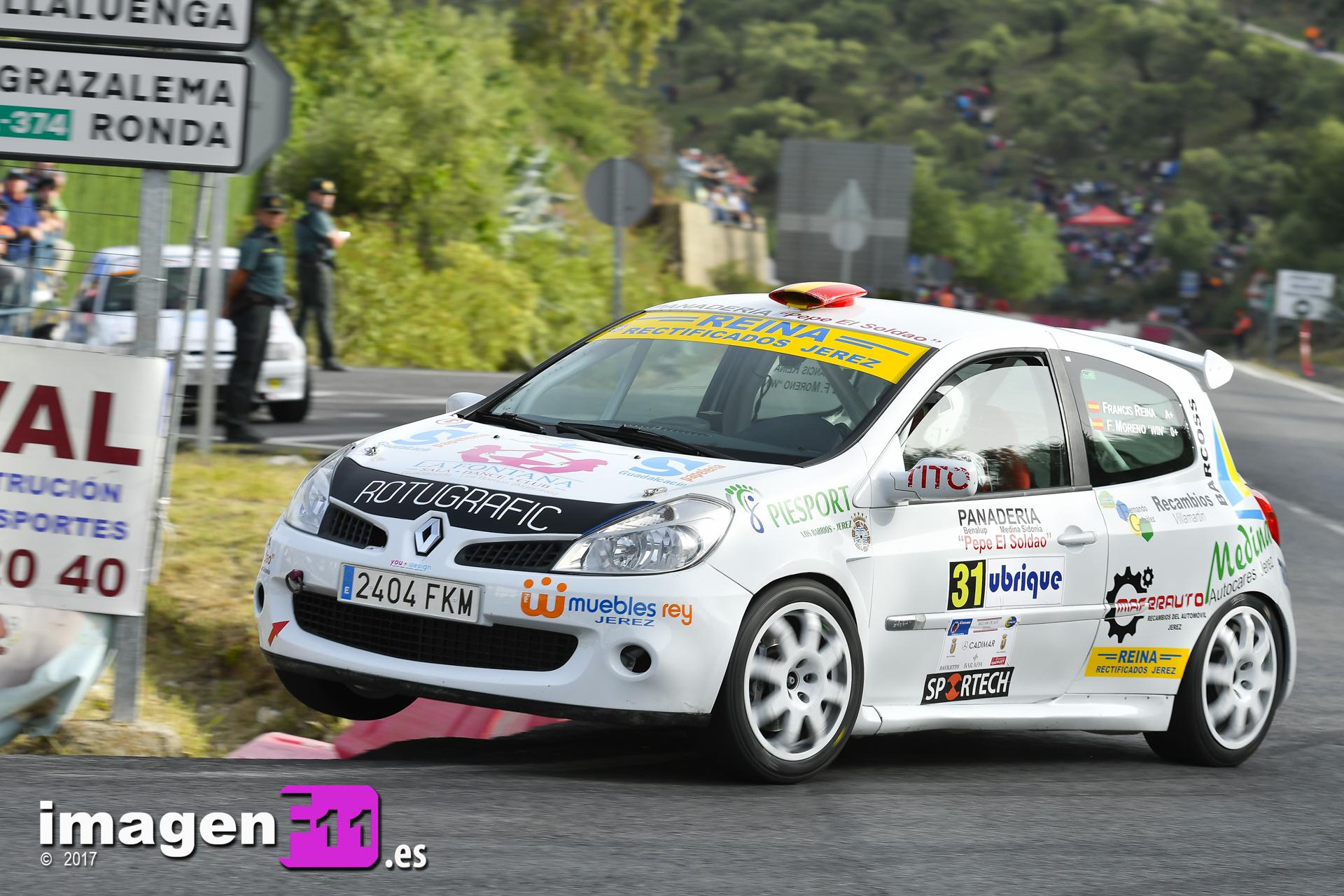 Francisco Reina, Renault Clio Cup, Subida a Ubrique
