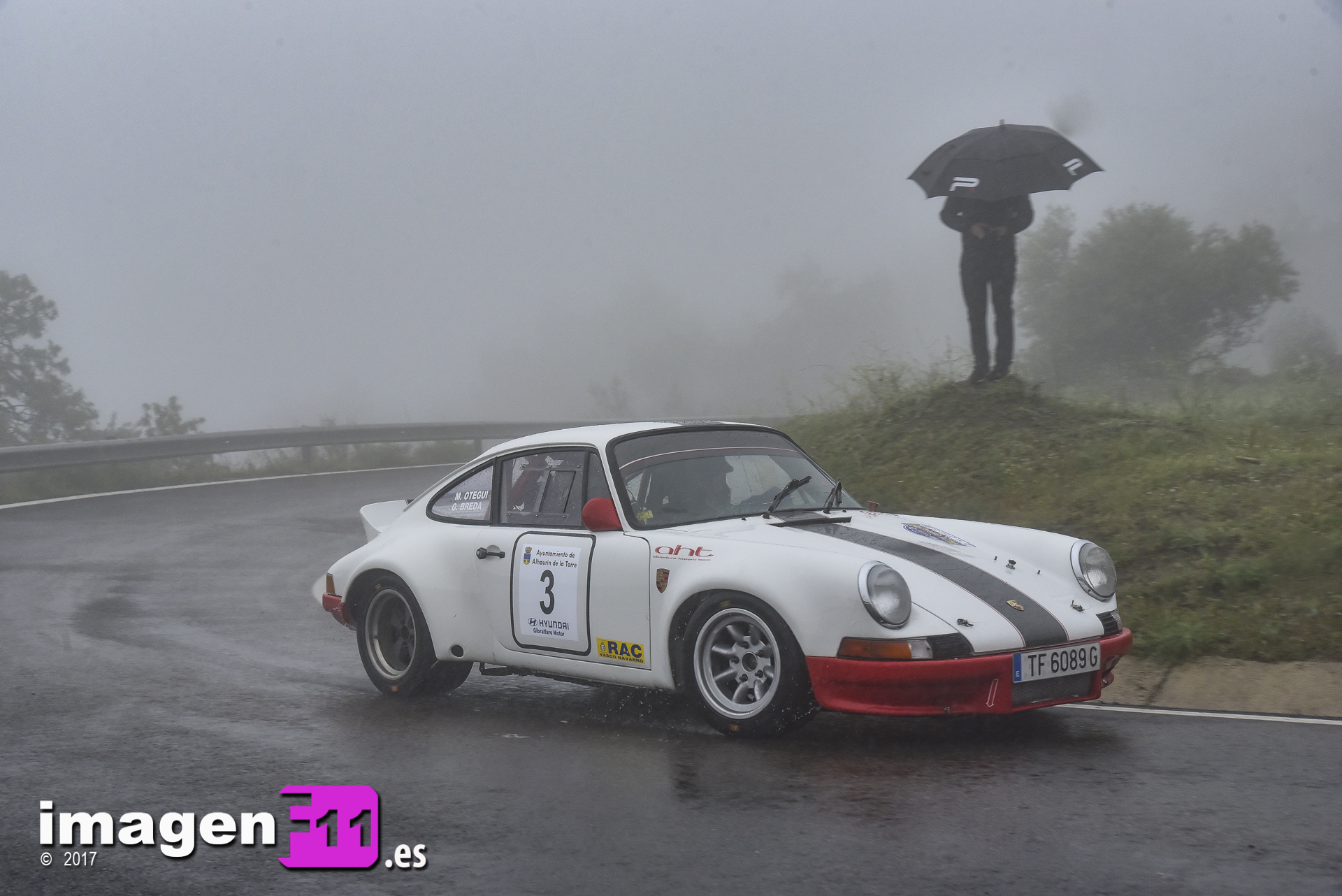Miguel Otegui, Porsche 911 RS, Rallye Gibralfaro