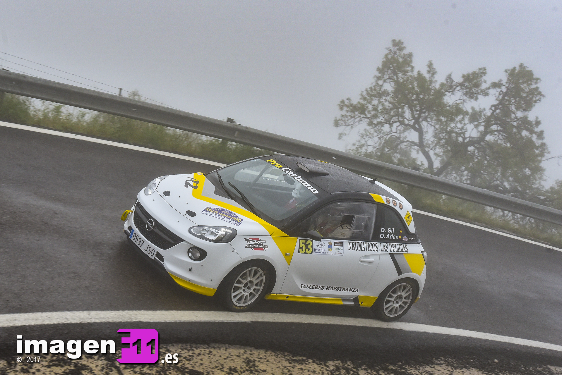 Oscal Gil, Opel Adam R2, Rallye Gibralfaro