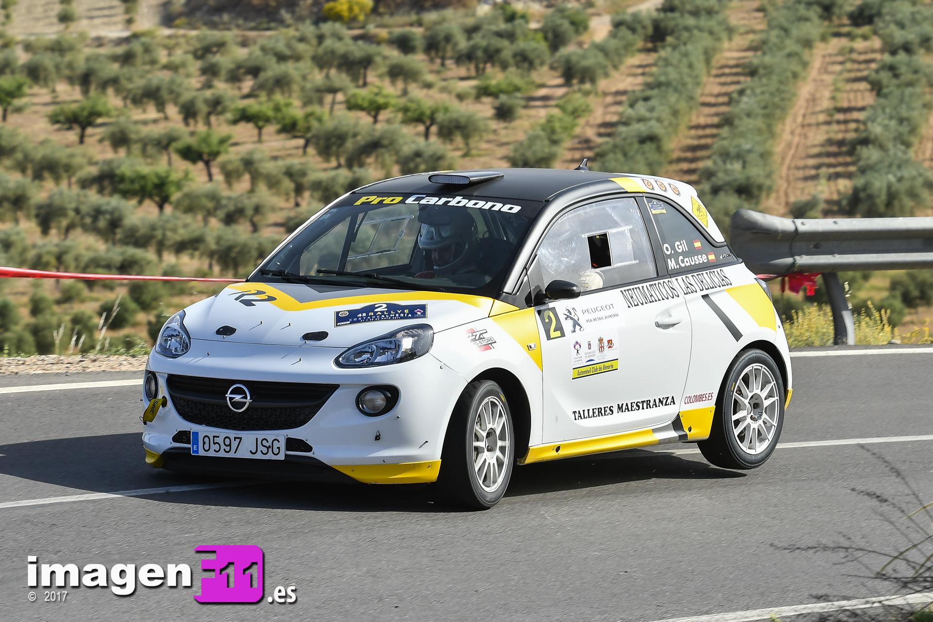 Oscar Gil, Opel Adam R2, Rallye Costa de Almería