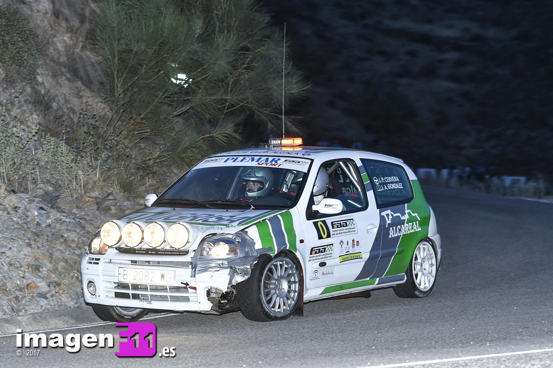 Jose Pérez, Coche 0 FAA, Rally Costa de Almería.