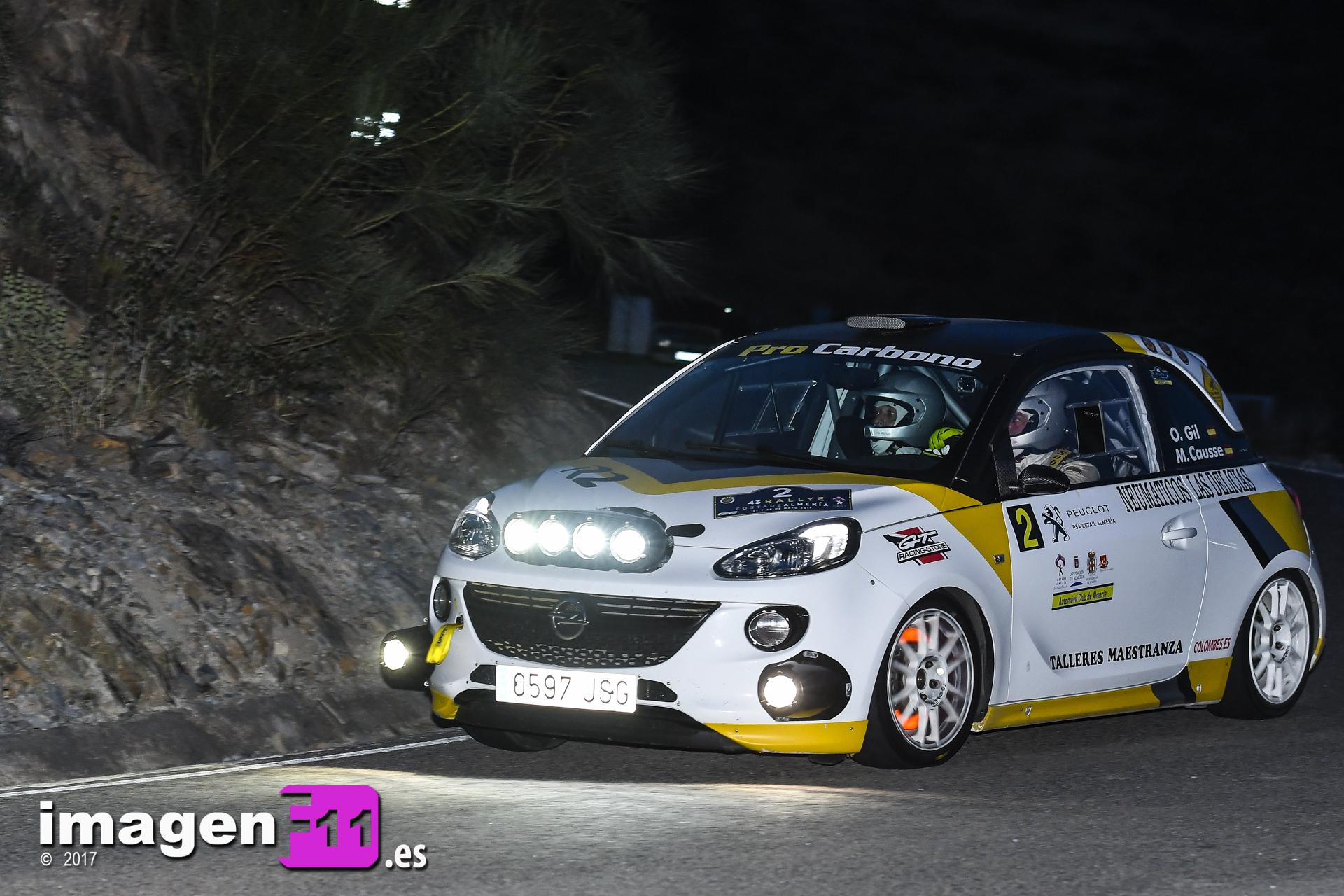 Oscar Gil, Opel Adam R2, Rally Costa de Almería