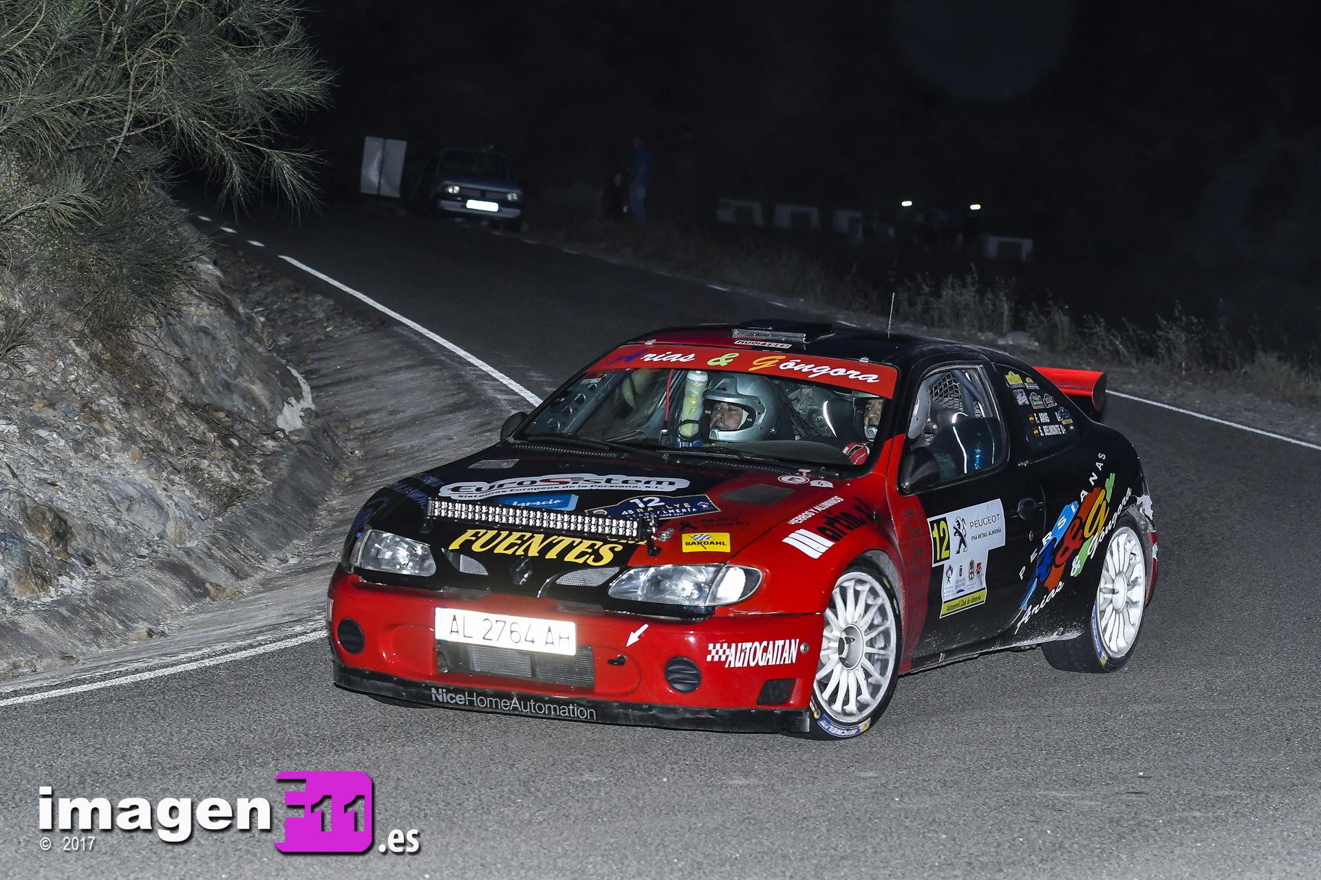 Francis Arias, Renault Maxi Megane, Rally Costa de Almería
