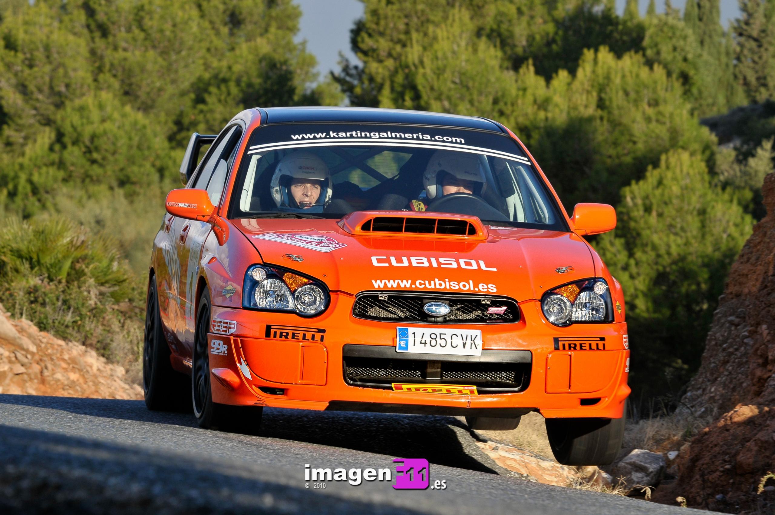 Resumen en datos temporada 2010 Cto. Andaluz de Rallyes.