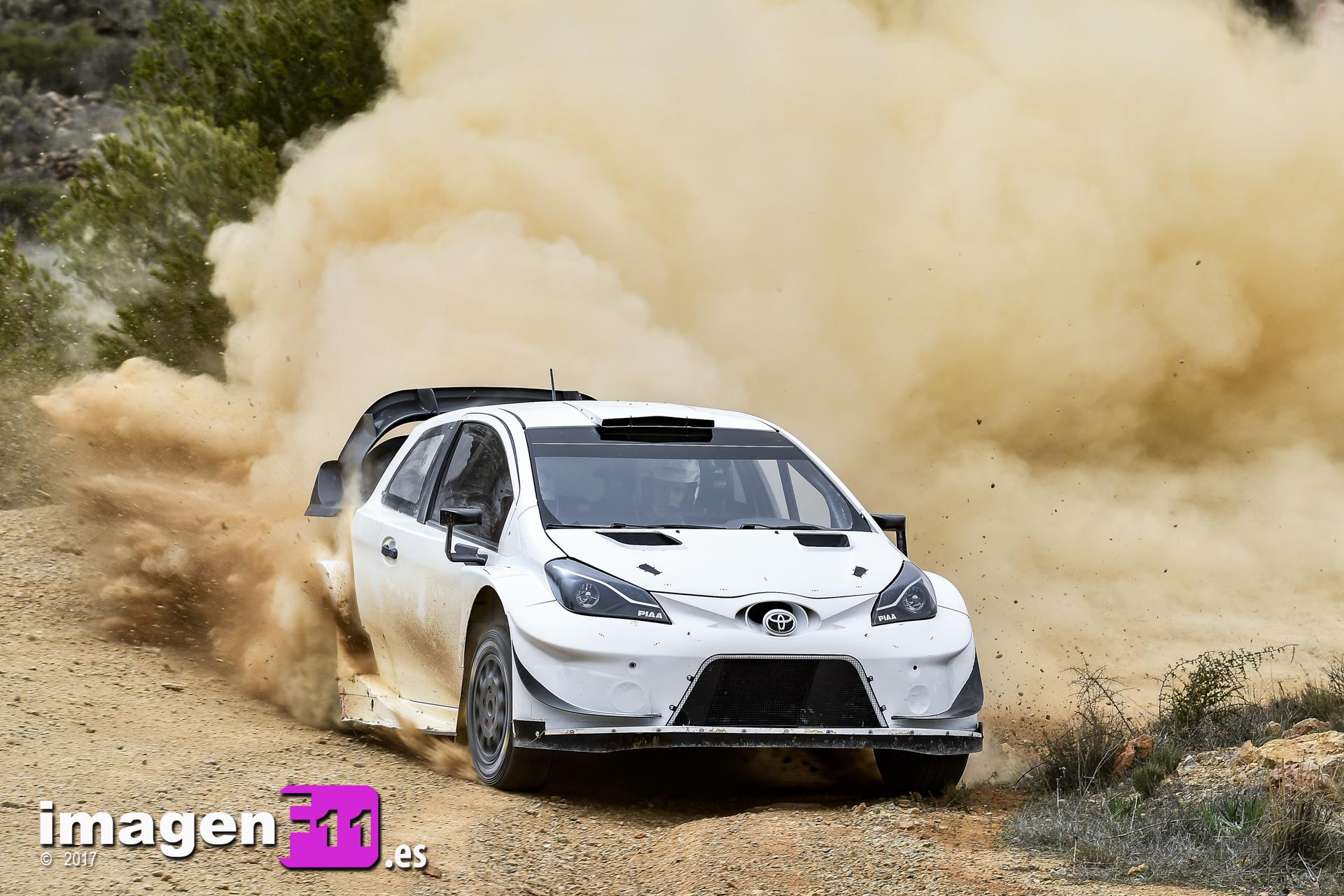 Test Toyota Yaris WRC con Latvala en Almería